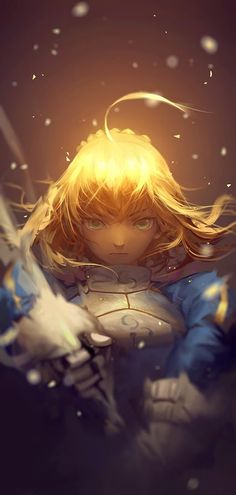 Saber from Fate/Zero or Fate/Stay night