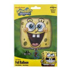 Anagram Foil Balloon 18 inch SpongeBob Squarepants Square, 1.0 CT, Multicolor