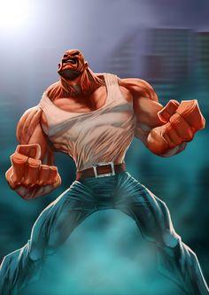 Super hero in a cartoon version