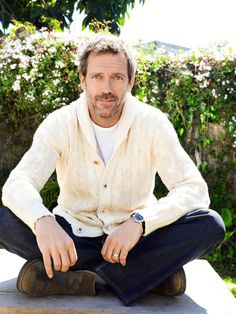 Hugh Laurie (with bonus lovely cardigan)