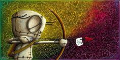Straight To Your Heart - Limited edition giclee on canvas from Fabio #Napoleoni #Marcenivo