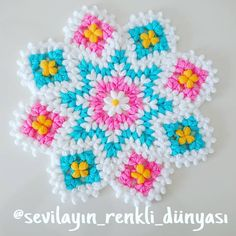 Hello friends, because my finger has not fully recovered, knitting . Crochet Flower Patterns, Crochet Doilies, Crochet Flowers, Unique Crochet, Crochet Baby Hats, Crochet Projects, Origami, Free Pattern, Stitch