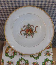 Amazon.com | Fitz and Floyd St. Nicholas 8 1/8 Inch Rimmed Soup Bowls: Soup Bowls
