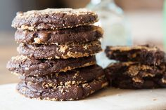 Tasty Kitchen Blog: Dark Chocolate Peanut Butter Cup Pretzel Cookies. Guest post by Gaby Dalkin of What's Gaby Cooking, recipe submitted by TK member Katie of Veggie and The Beast.