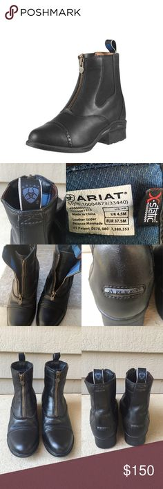 Ariat Paddock Boots Devon Pro Vx Ariat leather black paddock boots. Devon Pro Vx older version. Great condition only worn a few times. Size 7. Ariat Shoes