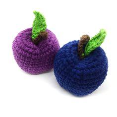 Crochet plum, amigurumi plum