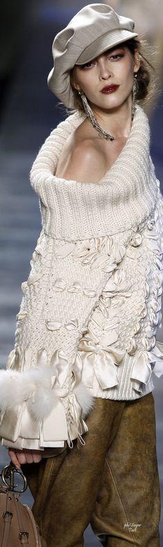 John Galliano for Christian Dior, Fall 2010 Dior Fashion, Knit Fashion, Runway Fashion, Womens Fashion, Christian Dior, John Galliano, Style Work, My Style, The Cardigans