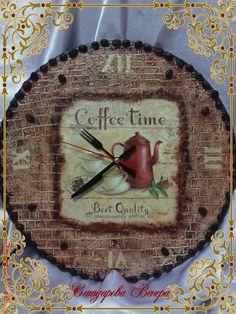 Подарки близким «ЧАСЫ» http://dcpg.ru/blogs/2334/ Click on photo to see more! Нажмите на фото чтобы увидеть больше! decoupage art craft handmade home decor DIY do it yourself clock
