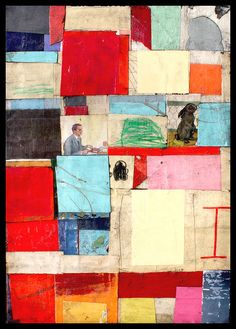 New Zealand by A Tucker - collage on canvas #mixed_media #art #collage
