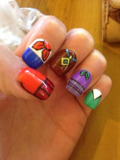 Scooby doo nails acrylic paint on natural nails nails scoobydoo prinsesfo Image collections