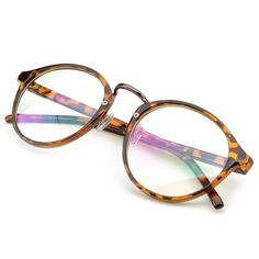 Amazon.com: PenSee Vintage Inspired Eyeglasses Frame Round Circle... ($11) ❤ liked on Polyvore featuring accessories, eyewear, eyeglasses, circle eyeglasses, clear round glasses, round eye glasses, circle glasses and clear lens glasses