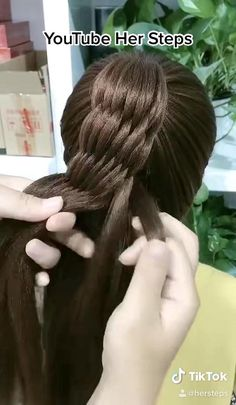 Haircuts For Long Hair With Layers, Hairdo For Long Hair, Easy Hairstyles For Long Hair, Girl Hairstyles, Hair Style Vedio, Girl Hair Dos, Front Hair Styles, Hair Creations, Hair Videos