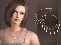 - 10 colours  Found in TSR Category 'Sims 4 Female Necklaces'