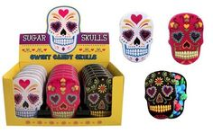 Sugar Skulls Candy Tin x 3 (1 black, 1 pink and 1 white) Boston America http://www.amazon.com/dp/B00I1K5A10/ref=cm_sw_r_pi_dp_EjN9wb0VK864Z  4 each