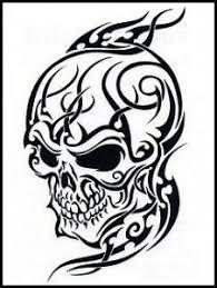 Tribal Skull Tattoo Design Lower Back Tattoos Tribal Tattoo Designs, Cool Tribal Tattoos, Tattoos Skull, Skull Tattoo Design, Body Art Tattoos, Sleeve Tattoos, Cool Tattoos, Fun Tattoo, Skull Design