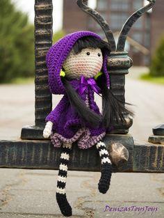 Iris flower Doll - pdf crochet pattern.♡