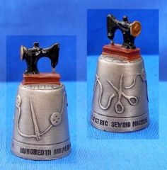 Pewter 100 yrs Sewing Machine Hand Painted Thimble | eBay /  Mar 25, 2014 / GBP 10.50