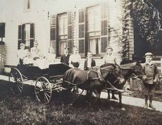 PLAY: Cart rides. Notice the boys are in the lead, no adults (except behind the camera). Peru, Indiana, 1902.
