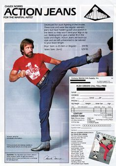 Chuck Norris Action Jeans...IOh I really should have one board just for Chuck! <3