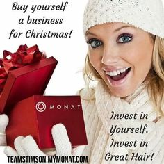 I can help you make all your Christmas wishes come try!  Let's get you started with your own business today!!!  #monat #beyourownboss #merrychristmas  teamstimson.mymonat.com