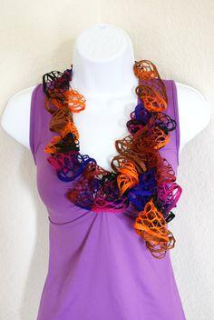 Ruffle scarf handmade