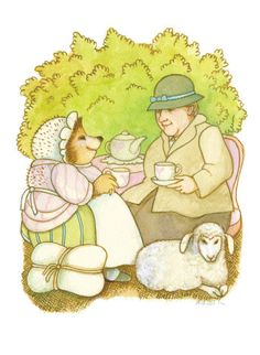 From: A CELEBRATION OF BEATRIX POTTER: ART & LETTERS BY MORE THAN 30 OF TODAY'S FAVORITE CHILDREN'S BOOK ILLUSTRATORS. Illustration by Tomie de Paola