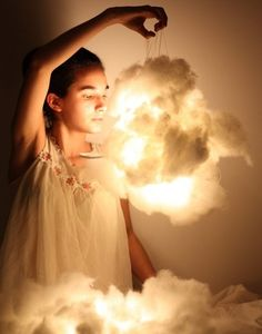 cloud lights! HAVE to use for a party sometime, kites maybe OR they could be train smoke ;-)