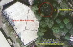 Haunted Mansion Ride Building (Aerial View)