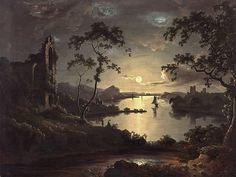 John Doyle (irish, 1797-1868), Attr., Moonlit Landscape, 1828