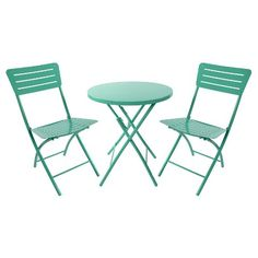 Metal Folding Patio Table Turquoise - Room Essentials™