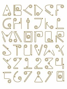 The Sinú or Zenú culture existed from about 200 BCE to about 1600 CE in the Colombian wetlands. Colombian designer Gustav Rendon was inspired by the cultures filigree technique which he based his typeface on. Alphabet Symbols, Hand Lettering Alphabet, Alphabet Design, Alphabet Art, Calligraphy Letters, Typography Letters, Creative Lettering, Graffiti Lettering, Lettering Styles