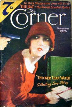 Nov 1926 The Corner magazine vintage cover