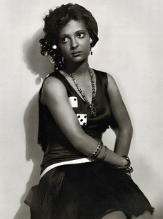 """Nina Mae McKinney (1912 – 1967) was an African American actress who worked internationally during the 1930s and in the postwar period in theatre, film and television. Dubbed """"The Black Garbo"""" in Europe because of her striking beauty, McKinney was one of the first African-American film stars in the United States, as well as one of the first African Americans to appear on British television.Credit: www.Doctormacro.com"""