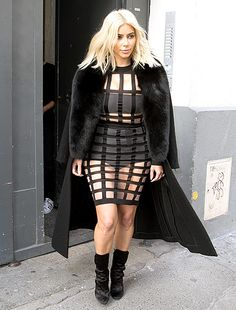 Ever the innovative fashion force, Kim Kardashian found yet another creative way to showcase her curvy figure during Paris Fashion Week on Sunday, March 8.