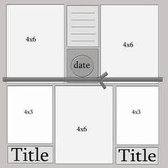 5 photo #scrapbook #sketch - 4 x 6 (3), 4 x 3 (2)