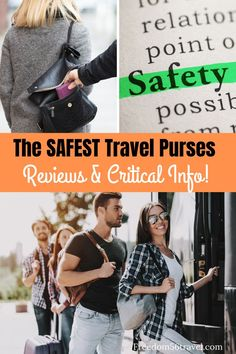 Learn the essentials about the BEST anti-theft purses for travel including crossbody, convertible, backpack purses, small and big! Fashionable too! Crossbody Bags For Travel, Travel Handbags, Travel Purse, Backpack Purse, Travel Backpack, Purses For Travel, Packing Tips For Travel, Travel Essentials, Travel Hacks