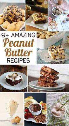 9+ Amazing Peanut Butter Recipes - A roundup of some of the best PB recipes on the web | www.happyfoodhealthylife.com