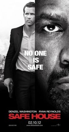 Directed by Daniel Espinosa.  With Denzel Washington, Ryan Reynolds, Robert Patrick, Vera Farmiga. A young CIA agent is tasked with looking after a fugitive in a safe house. But when the safe house is attacked, he finds himself on the run with his charge.
