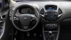 Ford KA+ interior steering wheel and centre console with SYNC