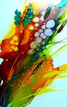 alcohol painting techniques - Google Search
