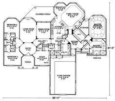 1000 images about house plans on pinterest floor plans for High ranch house plans
