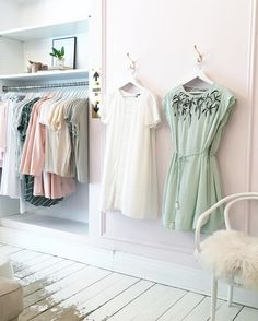 Styling up the shop today. #stylist #boutique #dresses by blushshop