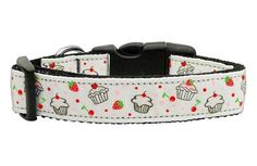 Mirage Pet Dog Cats Indoor Outdoor Training And Behavior Aids Accessories Cupcakes Nylon Ribbon Collar White Medium Dog Training and Behavior Aids - http://amzn.to/2i5coNL