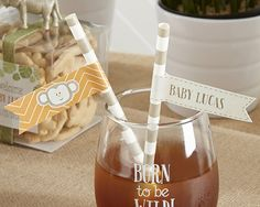 Born to Be Wild Party Straw Flags