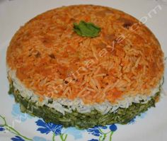 Tiranga Pulao Quiche, Risotto, Breakfast, Ethnic Recipes, Food, Morning Coffee, Essen, Quiches, Meals