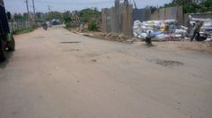 """#Bangalore #Vijnanagar """"These roads (at B Narayanapura, Road opposite to VolksWagen showroom) are newly laid and were damaged less than a year. These roads are causing lot of traffic congestion as nobody wants to go on those damaged areas."""" - Kranthi. Click on the link to VOTE UP Kranthi's complaint to get the issue resolved faster: http://bit.ly/1oHcoj6"""
