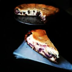Cherry Chocolate Chip Cheesecake - Butter & Chocolate Blog-