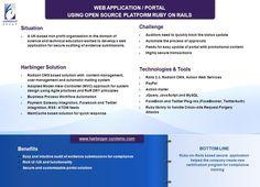 Web Application / Portal Using Open Source Platform 'Ruby-on-Rails'    http://j.mp/yNA0Z1