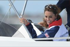 Kate watching the yachting at Olympics