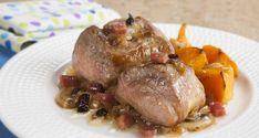 Receta de solomillos a la castellana Steak, Pork, Menu, Salads, Canela, Fruit Salsa, Apple Filling, Mushroom Sauce, Cooking Recipes